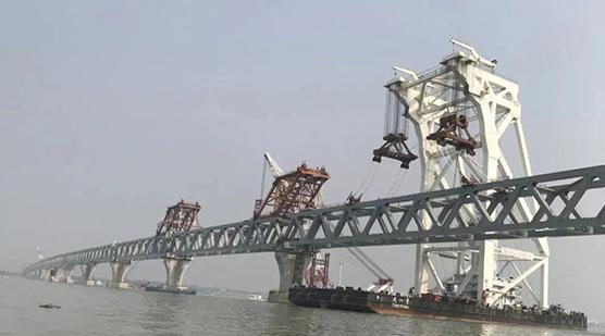 """孟加拉""""梦想之桥""""合龙"""