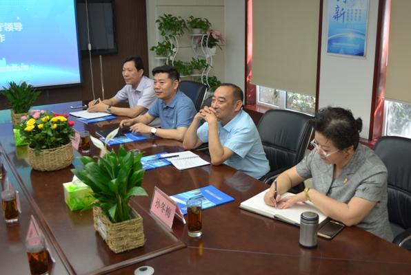 省建设厅副厅长李新怀一行到河南省建筑科学研究院进行工作调研