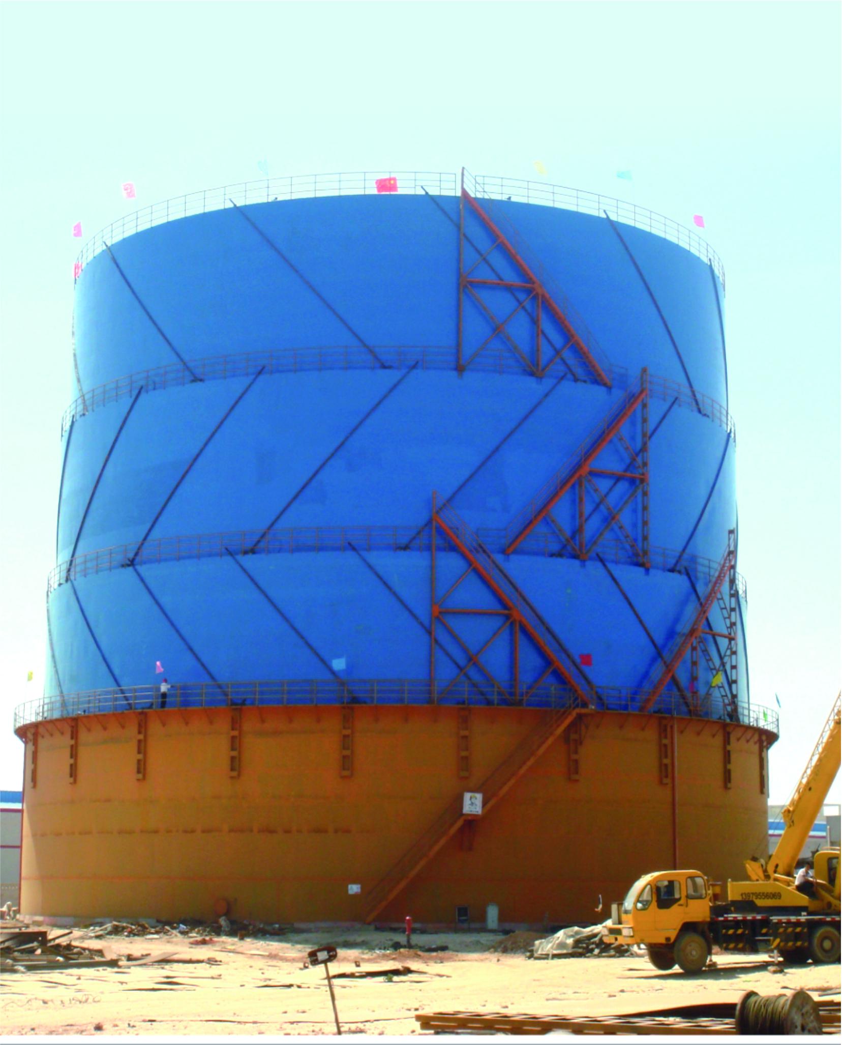 豐城市港華燃氣有限公司5.4萬m3氣柜制作安裝工程